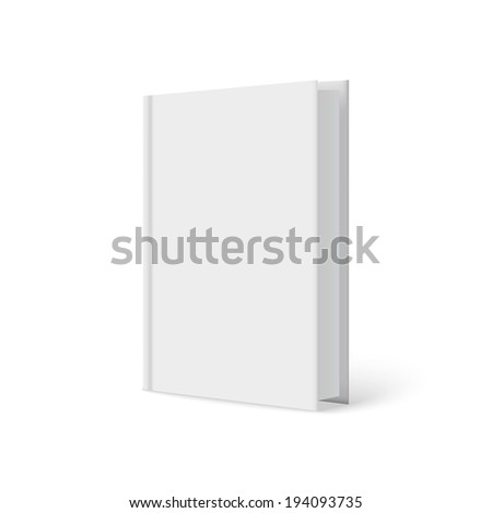 Vertically standing template books on a white background. Vector illustration. - stock vector
