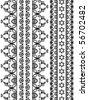Very detail Henna art Inspired Border designs - stock photo