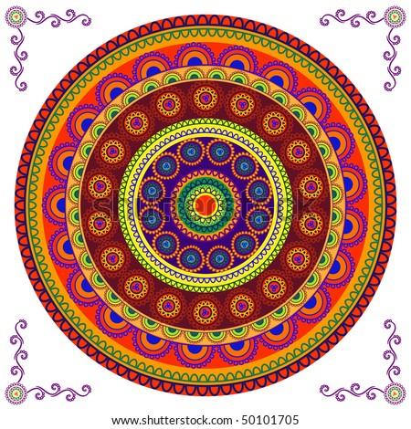 Very detail Mandala design - stock vector