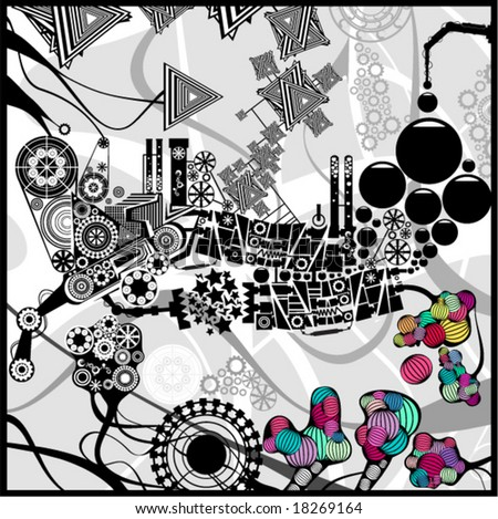 Very detailed abstract image - stock vector