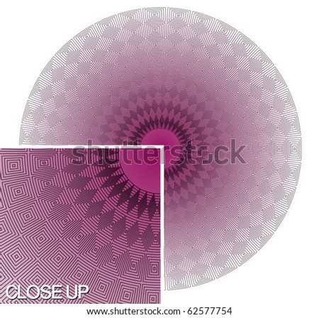 Very fine, circular vector pattern. - stock vector