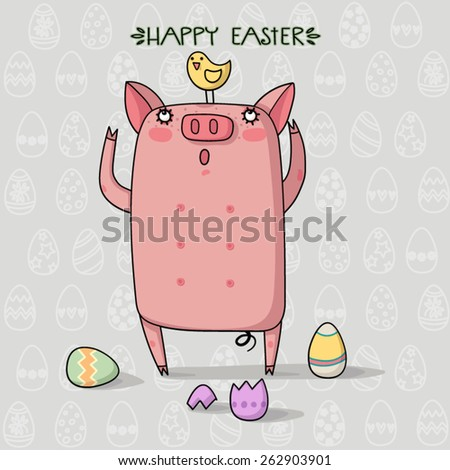 Very Happy Easter - stock vector