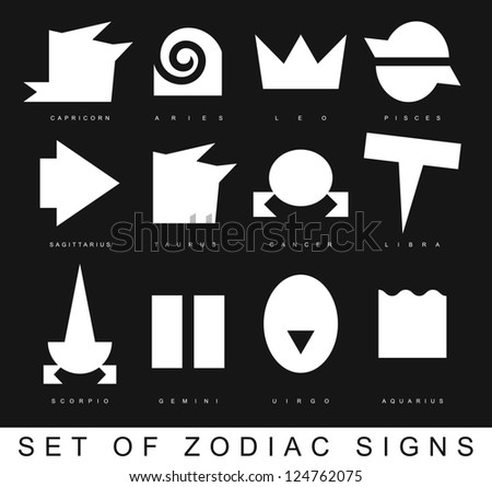 Very primitive zodiac signs vector