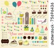 very sweet collection for scrapbooking - stock photo