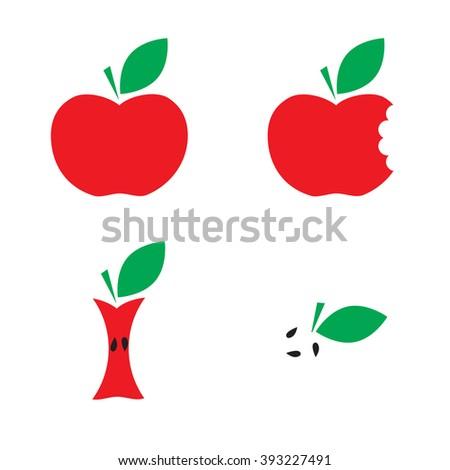 Very tasty apple icon set.  - stock vector