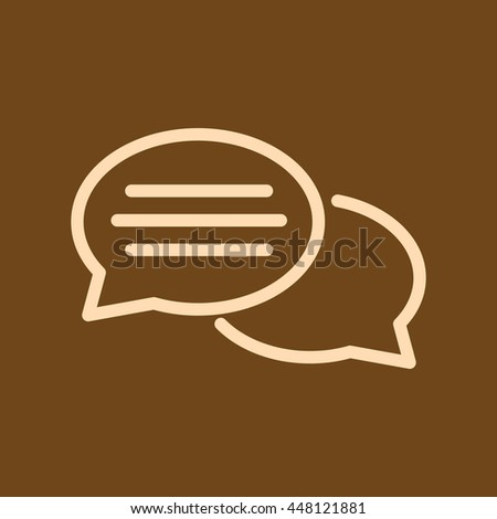 Very Useful Editable Vector icon of Comments on coffee color background. eps-10. - stock vector