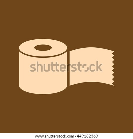 Very Useful Editable Vector icon of Tissue paper Roll on coffee color background. eps-10.