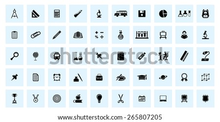 Very Useful educational Icon Set. - stock vector