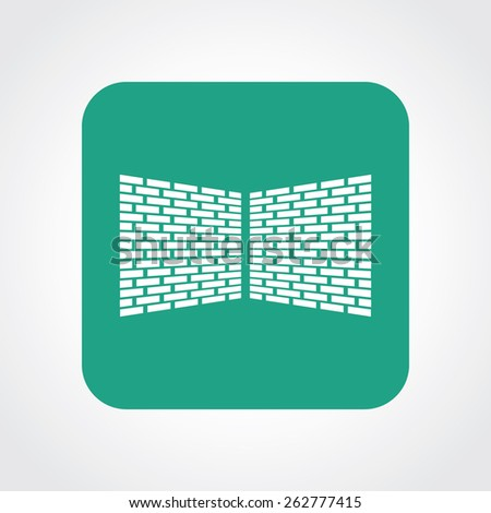 Very Useful Flat Icon of bricks wall. Eps-10. - stock vector