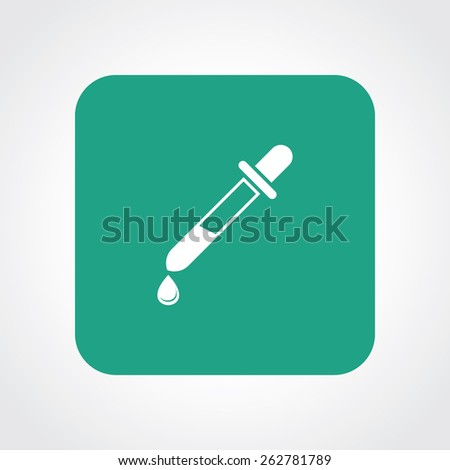 Very Useful Flat Icon of dropper. Eps-10. - stock vector