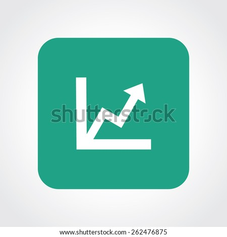 Very Useful Flat Icon of graph. Eps-10. - stock vector