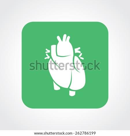 Very Useful Flat Icon of Heart. Eps-10. - stock vector