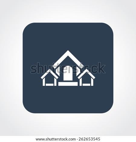 Very Useful Flat Icon of Home. Eps-10. - stock vector