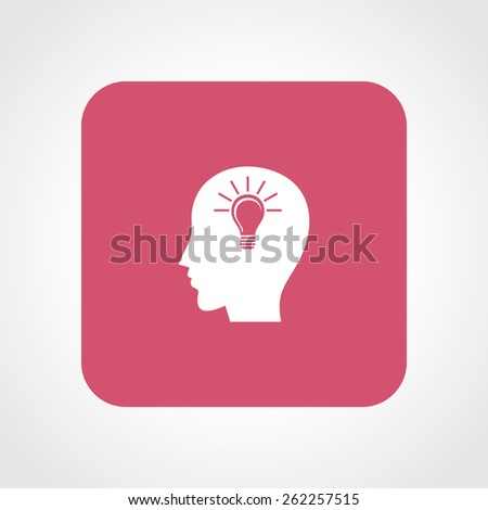 Very Useful Flat Icon of Idea. Eps-10. - stock vector