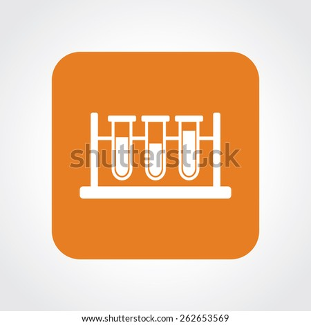 Very Useful Flat Icon of Laboratory Glass. Eps-10. - stock vector