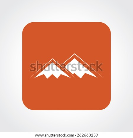 Very Useful Flat Icon of mountains. Eps-10. - stock vector