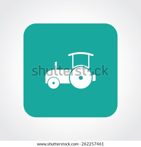 Very Useful Flat Icon of Road Roller. Eps-10. - stock vector