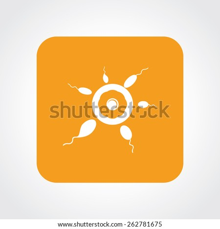 Very Useful Flat Icon of sperm & egg. Eps-10. - stock vector