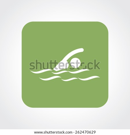 Very Useful Flat Icon of swimmer. Eps-10. - stock vector
