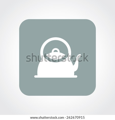 Very Useful Flat Icon of Tea Kettle. Eps-10. - stock vector