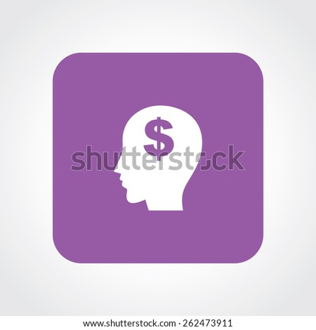 Very Useful Flat Icon of think money. Eps-10. - stock vector