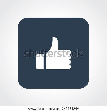 Very Useful Flat Icon of thumbs up. Eps-10. - stock vector