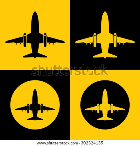 Very Useful Icon Of Airplane. Eps-10. - stock vector