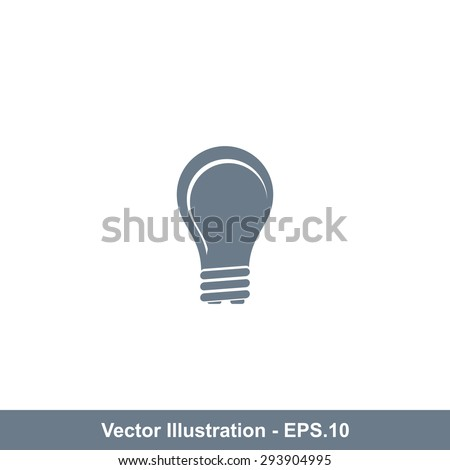 Very Useful Icon Of Bulb. Eps-10. - stock vector