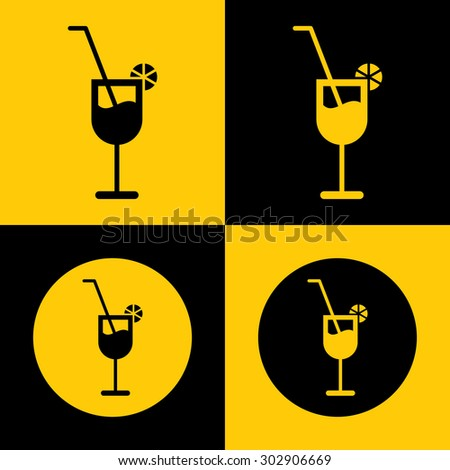Very Useful Icon Of Drink Glass. Eps-10. - stock vector