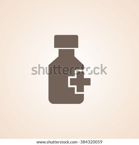 Very Useful Icon of Drug Bottle for Web & Mobile. Eps-10. - stock vector