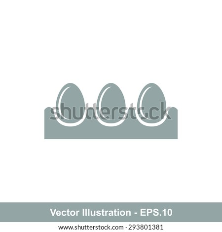 Very Useful Icon Of Egg Tray. Eps-10. - stock vector
