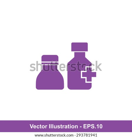 Very Useful Icon Of Medicine Bottle. Eps-10. - stock vector
