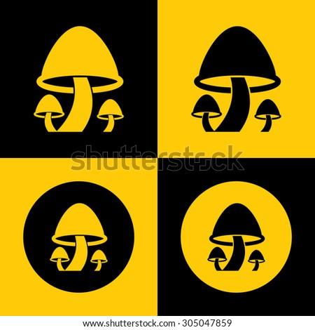 Very Useful Icon Of Mushroom. Eps-10. - stock vector