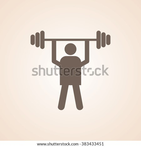 Very Useful Icon of Power Lifter or Weight Lifting for Web & Mobile. Eps-10. - stock vector
