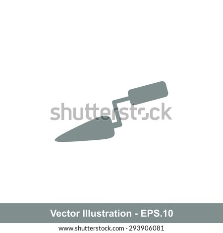Very Useful Icon Of Trowel. Eps-10. - stock vector