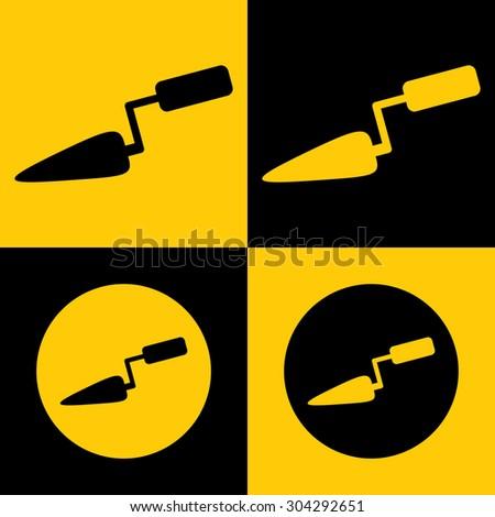 Very Useful Icon Of Trowel. Eps-10. - stock vector