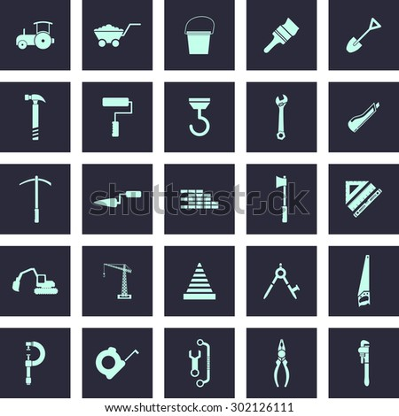 Very Useful Vector Construction Icon Set for Web & Mobile. Eps-10. - stock vector