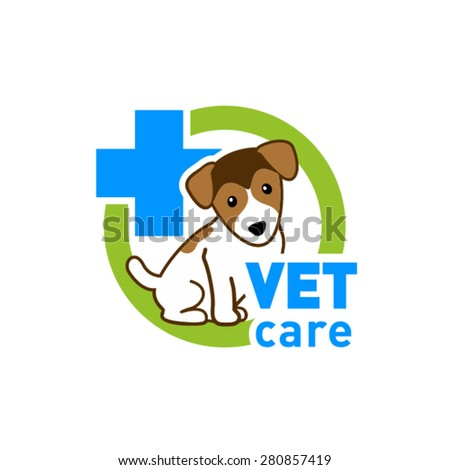 Vet care logo - stock vector
