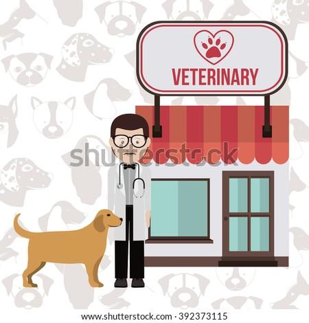 vet clinic design  - stock vector