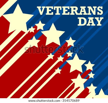 Veterans Day. Usa flag on background - stock vector