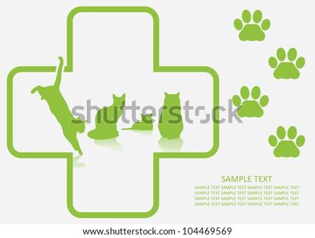 Veterinary background -vector illustration - stock vector