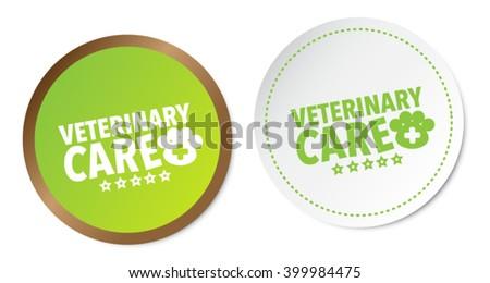 Veterinary care stickers - stock vector