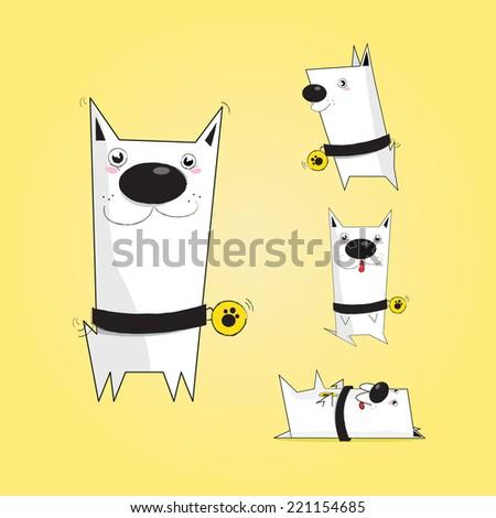 Veterinary dog character, pet shop, animals - stock vector