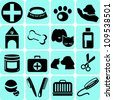 Veterinary Icons - stock