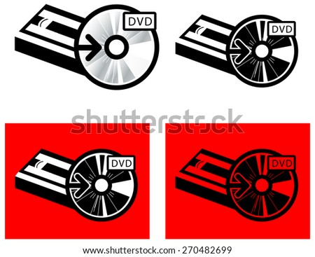 VHS to DVD Media Transfer - stock vector