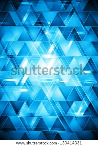 Vibrant blue abstract tech design. Vector background eps 10 - stock vector