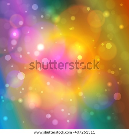 Vibrant Bright Abstract Bokeh Background , Defocused Lights,  Vector Illustration - stock vector