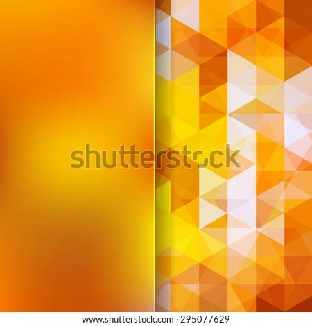 Vibrant bright orange abstract geometric background. - stock vector