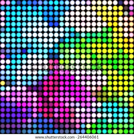 Vibrant colorful pixel mosaic tiles. Abstract background - stock vector