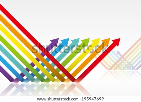 Vibrant colors arrows - stock vector